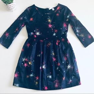 GAP Navy Blue Stars Fireworks 100% Cotton Dress